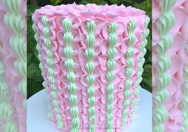 Buttercream Ruffles and Shells - Cake Tutorial