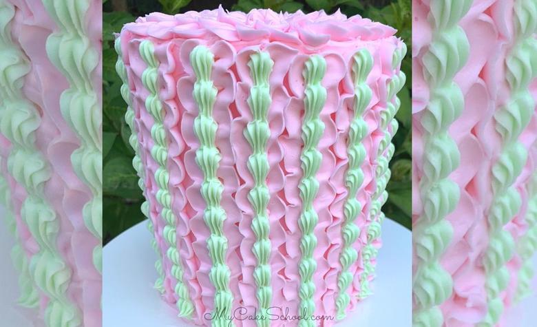 Buttercream Ruffles and Shells - Cake Tutorial