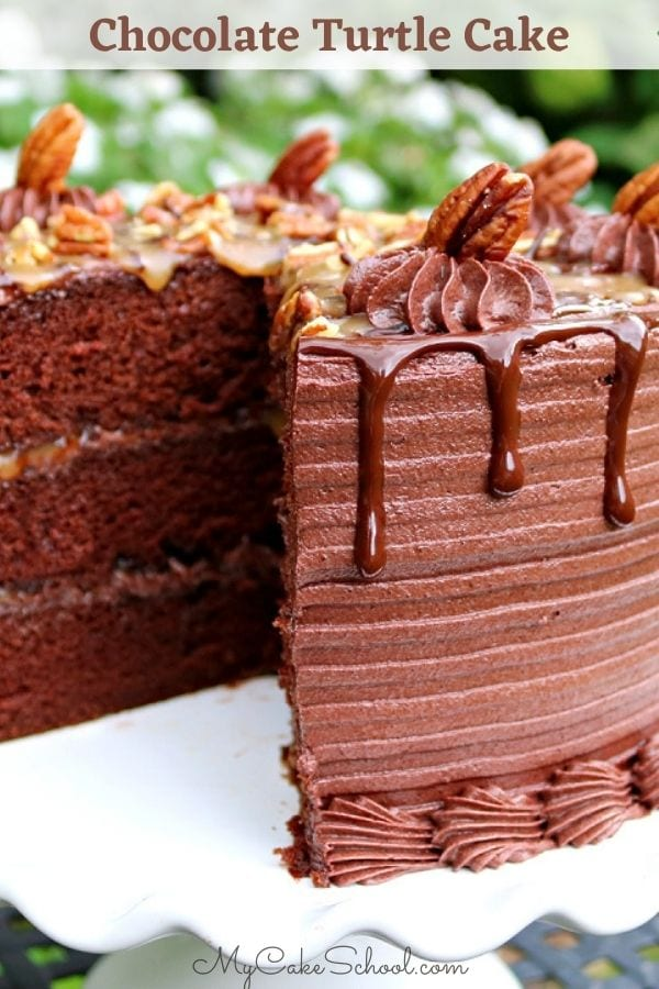 Chocolate Turtle Cake Recipe- So decadent and delicious!