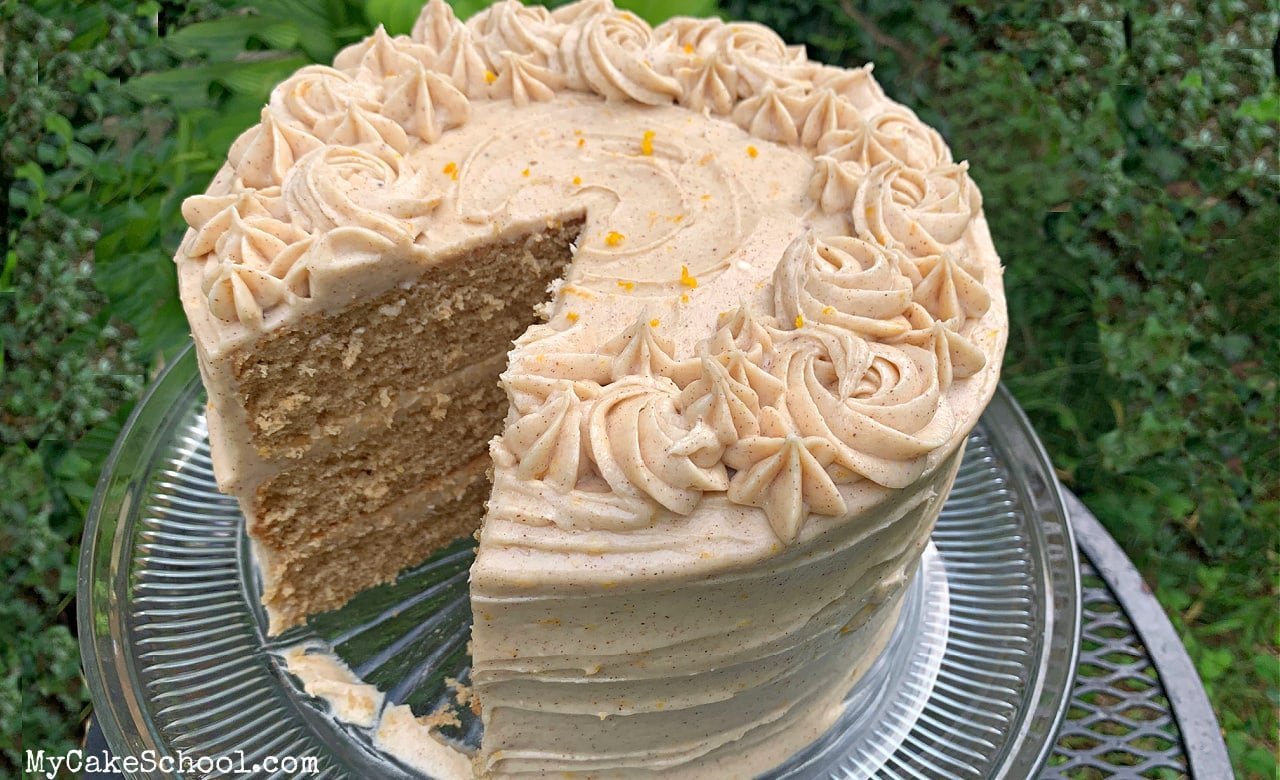 This moist, ,delicious Orange Spice Layer Cake is the perfect fall dessert!