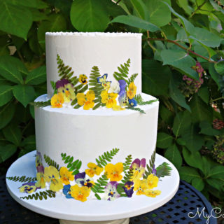 Pressed Flowers and Cake Decorating