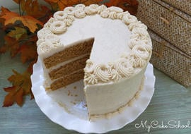 Delicious Sweet Potato Layer Cake with Cinnamon Cream Cheese Frosting!