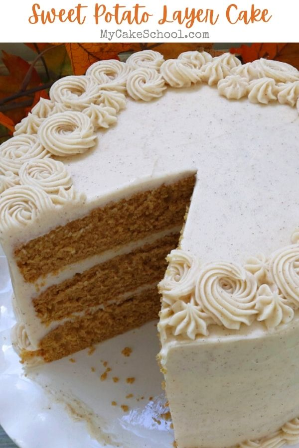 Super moist and flavorful Sweet Potato Layer Cake Recipe- This cake is perfect for fall!