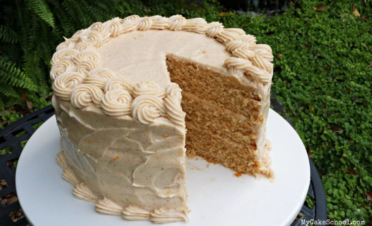 Spice Cake with Orange Spice Cream Cheese Frosting