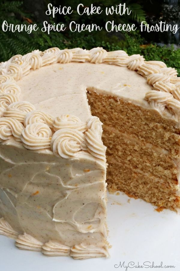 Homemade Spice Cake with Orange Spice Cream Cheese Frosting- So delicious and perfect for fall and winter celebrations!!
