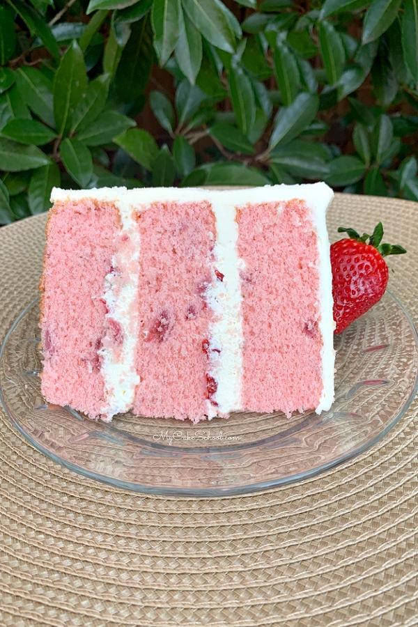 Strawberry Champagne Cake Recipe