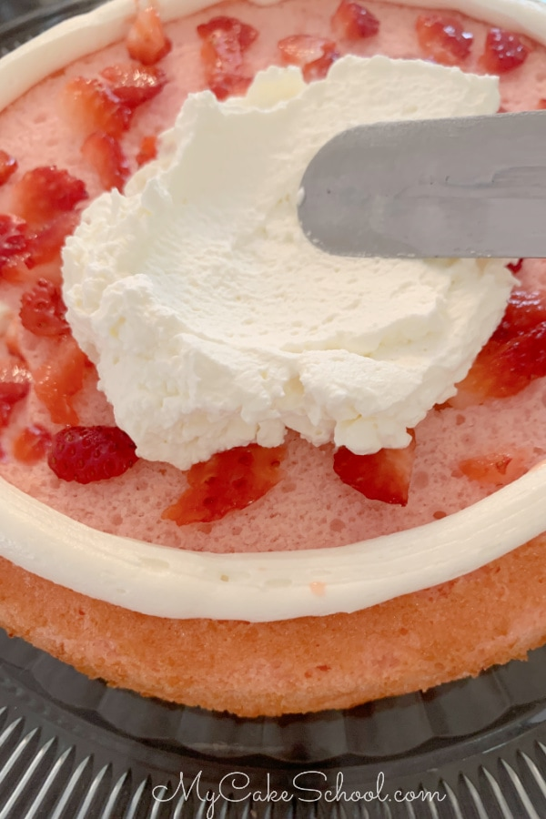 This moist and delicious Strawberry Champagne Cake all starts with a simple cake mix!