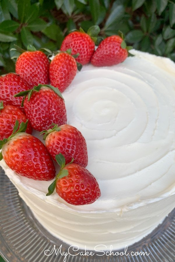 Delicious Strawberry Champagne Cake from a Cake Mix