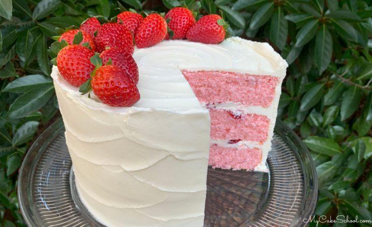 Delicious Strawberry Champagne Layer Cake