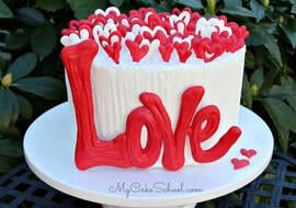 Lots of Love- Free Cake Video for Valentine's Day and Anniversaries!