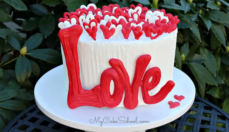Lots of Love Cake- A Free Cake Tutorial