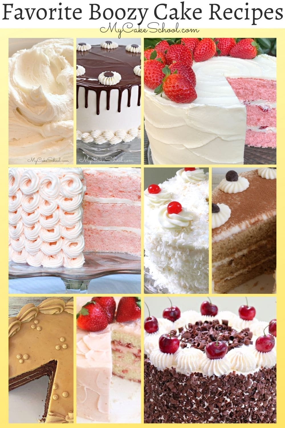 Boozy Cake Recipes- A Collection of our Favorites