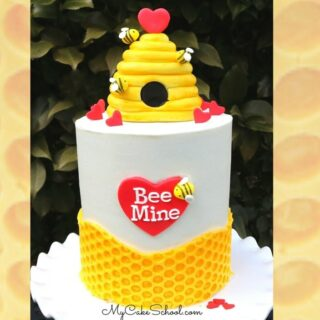 This Valentine's Day Beehive Cake Tutorial is so cute and fun to make!