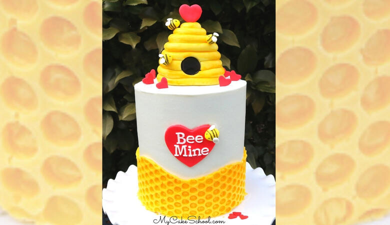 Bee Mine- A Beehive Cake Tutorial for Valentine's Day