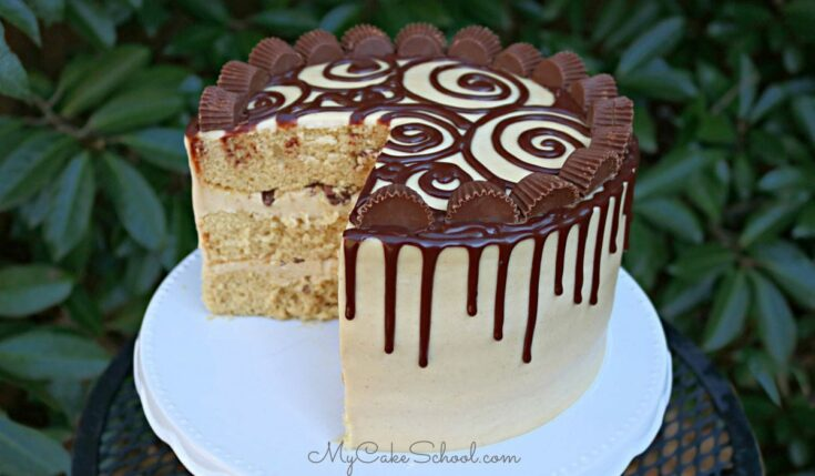 Delicious Peanut Butter Cake with Peanut Butter Cream Cheese Frosting
