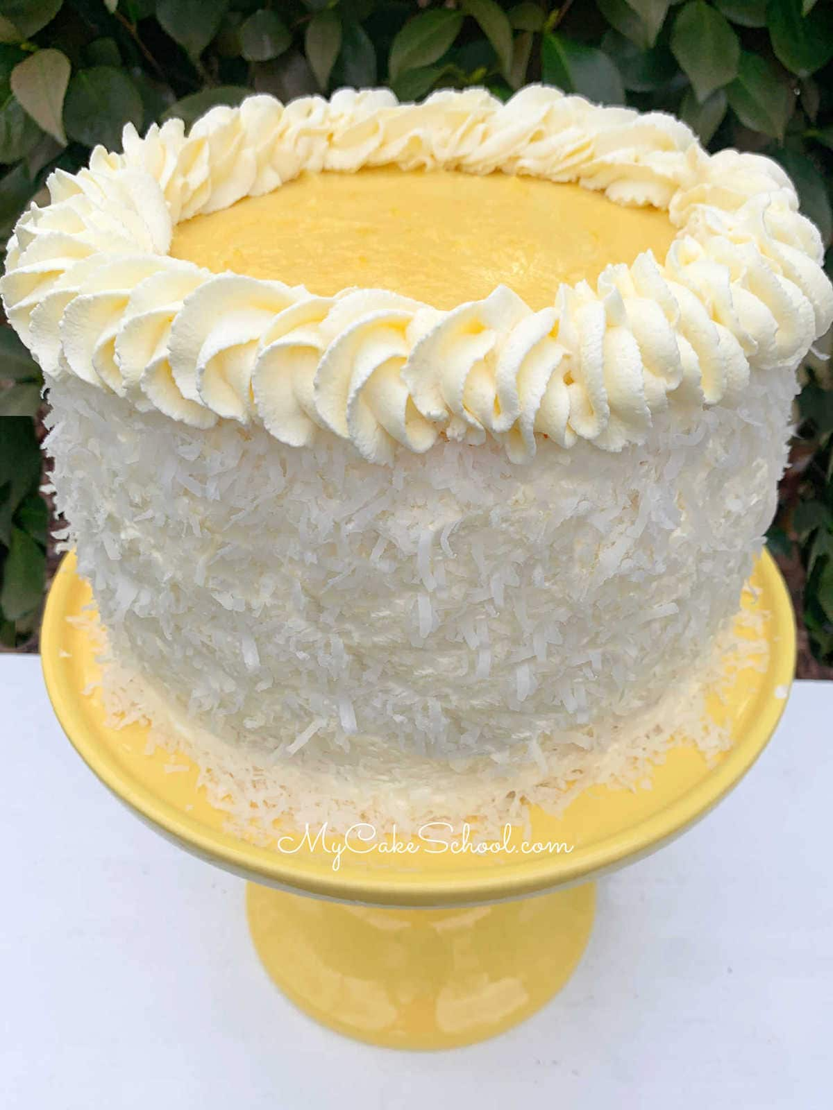 Lemon Coconut Cake Recipe- SO light, fluffy, and flavorful!