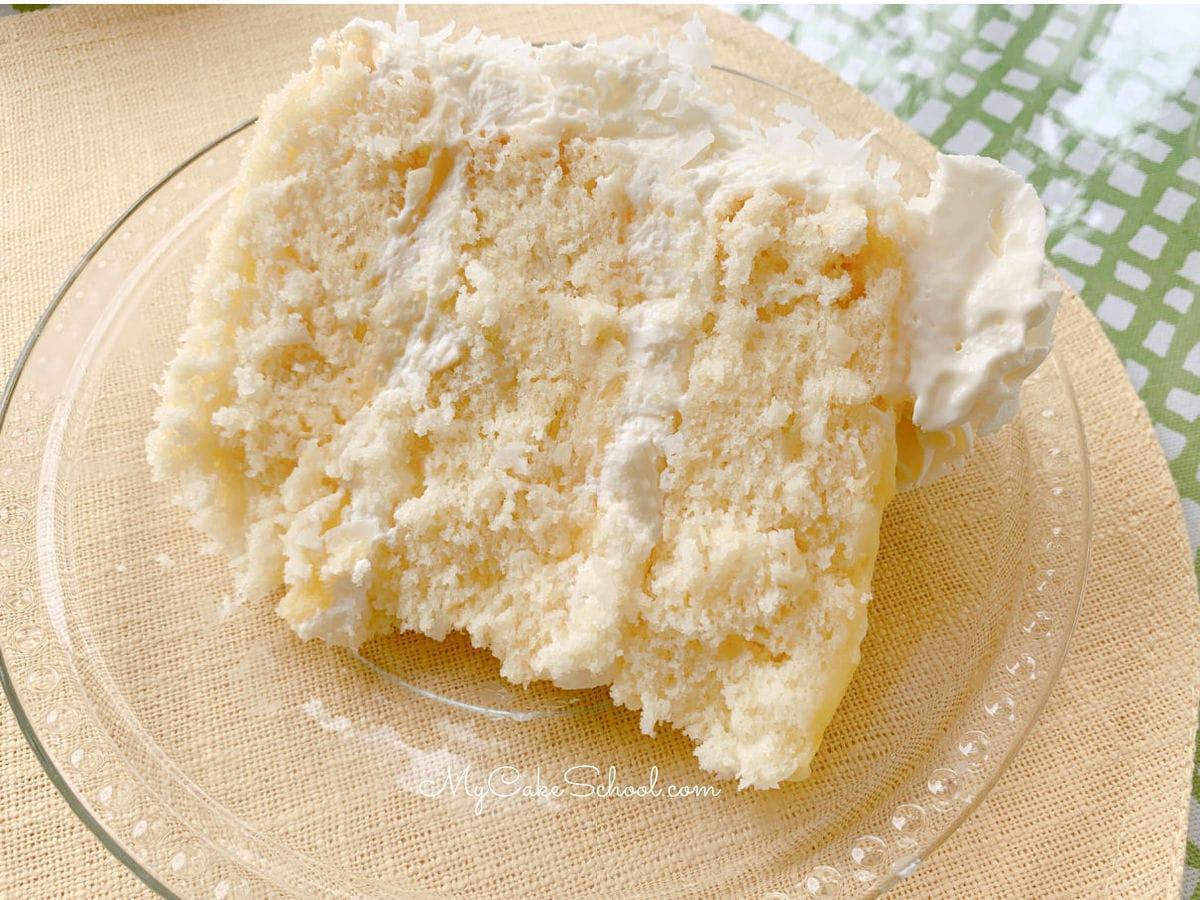 Lemon Coconut Cake- So moist and delicious!