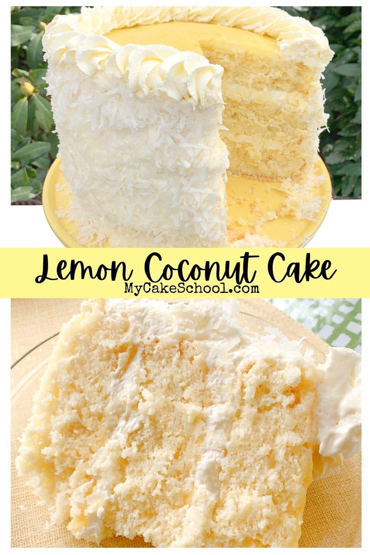 Lemon Coconut Cake with Lemon Curd Filling