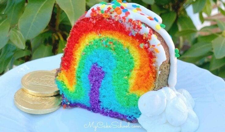 Rainbow Pound Cake