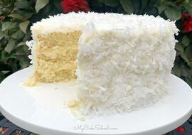 White Chocolate Coconut Cake from Scratch