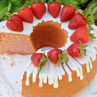 Strawberry Pound Cake Recipe- So moist and flavorful!