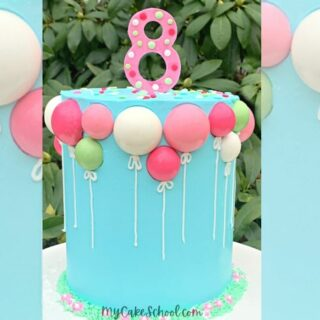 Sweet Chocolate Balloons Cake!- Member Cake Video Tutoriall