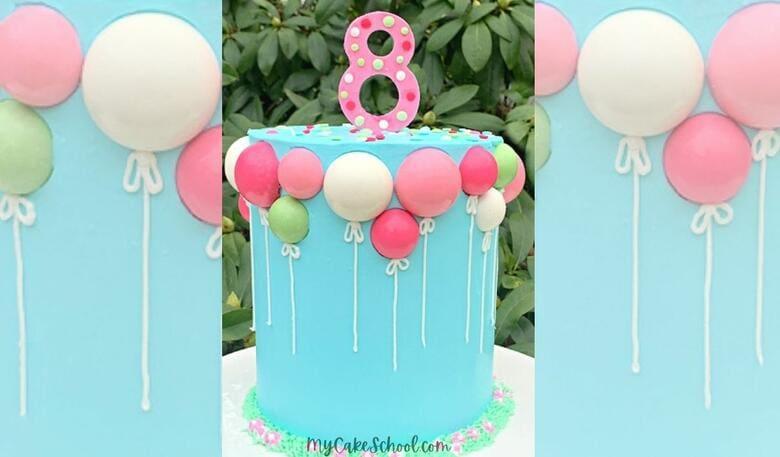 Sweet Chocolate Balloons Cake!- Member Cake Video Tutoriall