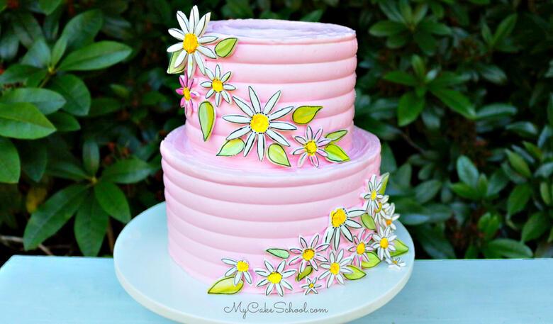 Painted Daisy Cake