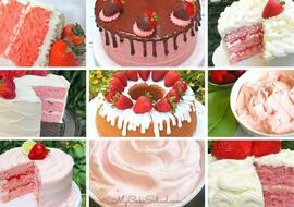 Favorite Strawberry Cakes, Recipes, and Fillings