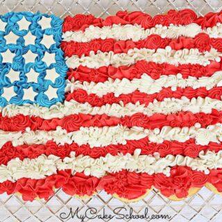 Easy Flag Cupcake Cake