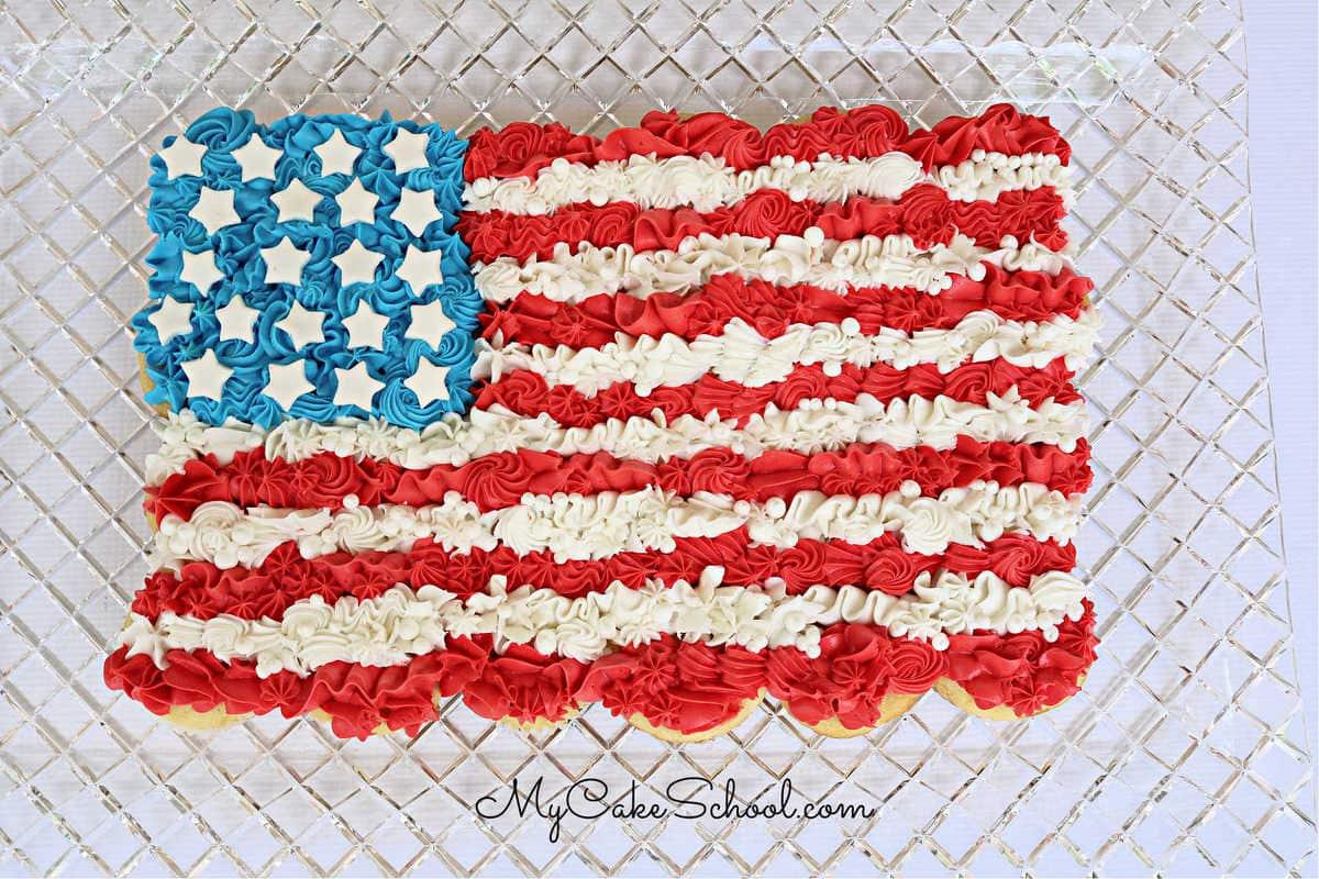 आसान झंडा कप केक केक