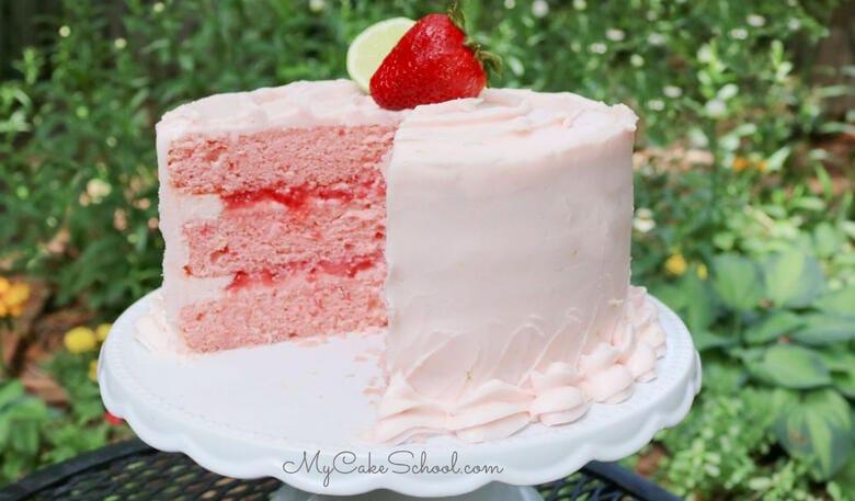 Strawberry Daiquiri Cake- SO moist and flavorful