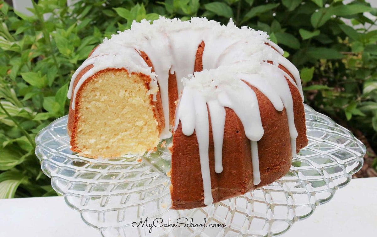 Moist Coconut Pound Cake- So delicious!