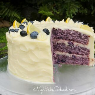 Blueberry Cake with Lemon Cream Cheese Frosting