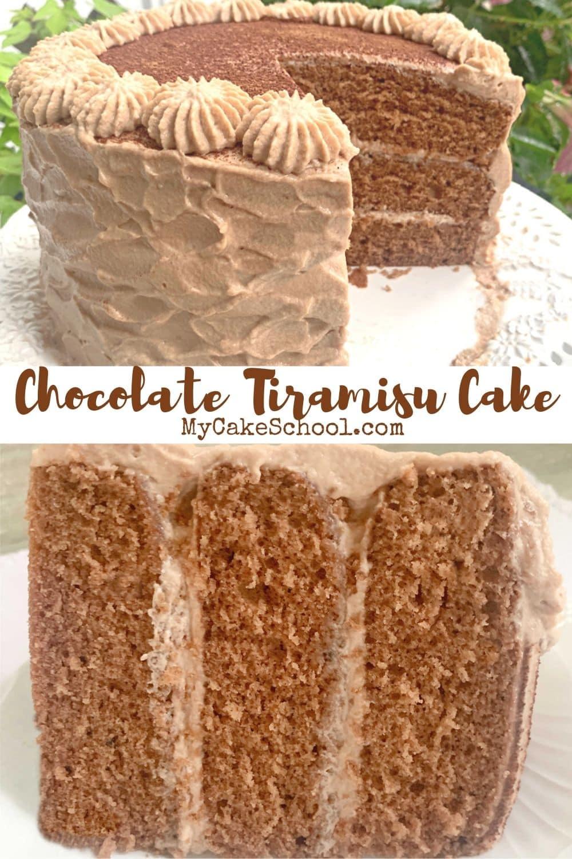 Delicious Homemade Chocolate Tiramisu Cake