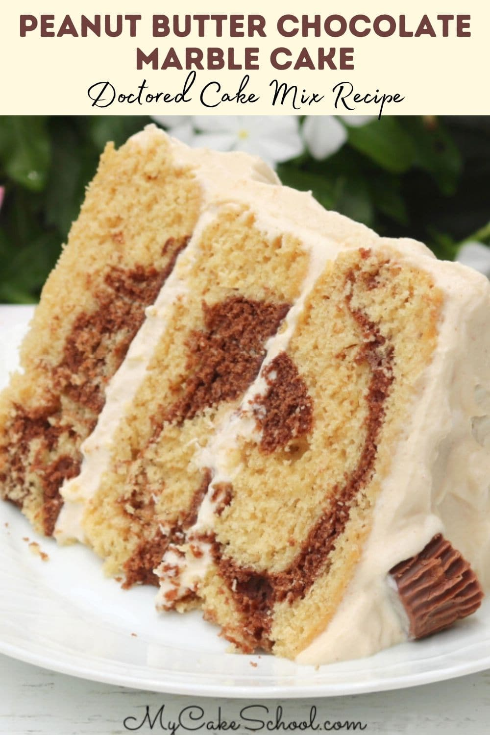 Peanut Butter Chocolate Marble Cake
