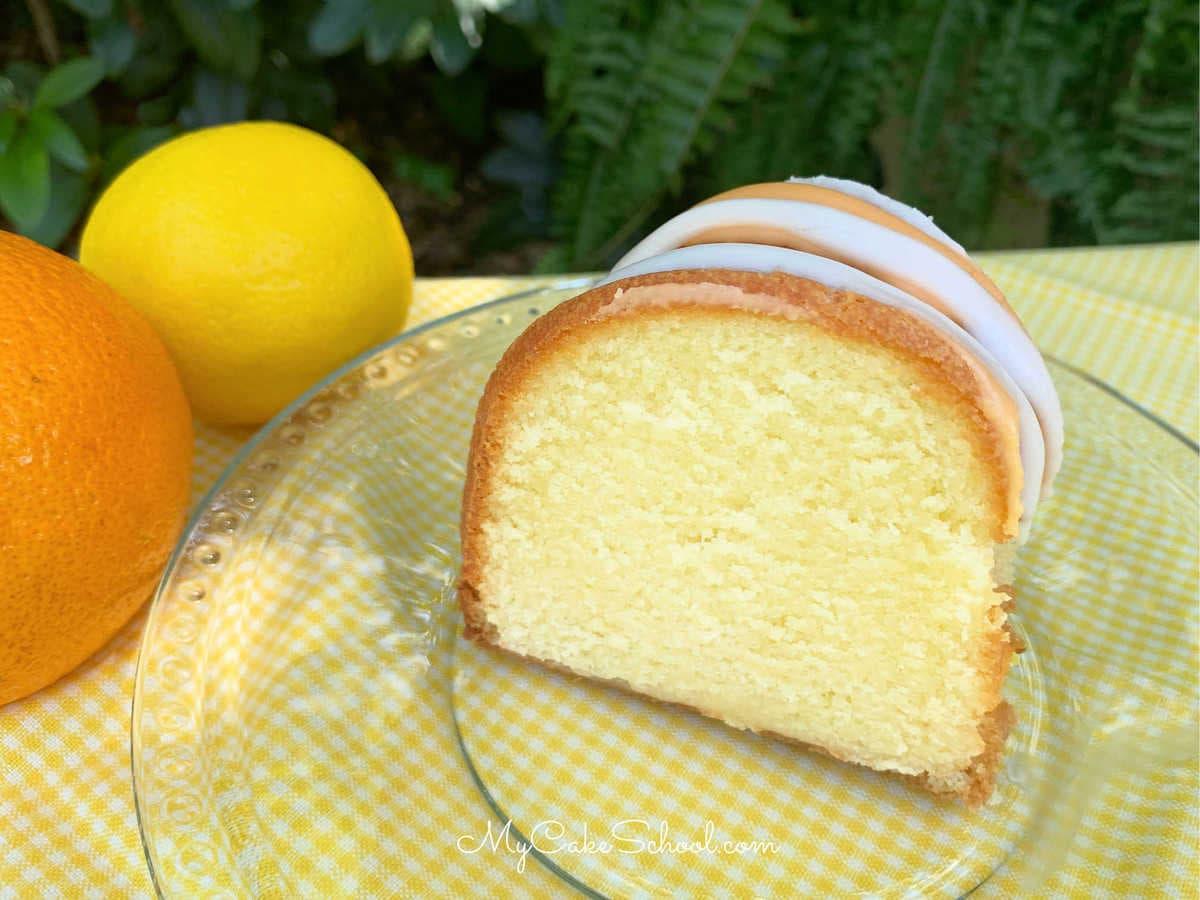 Moist Lemon Orange Pound Cake