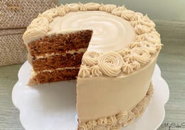 Mocha Chocolate Chip Cake with Espresso Cream Cheese Frosting