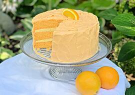 Orange Dreamsicle Cake- A Doctored Cake Mix Recipe