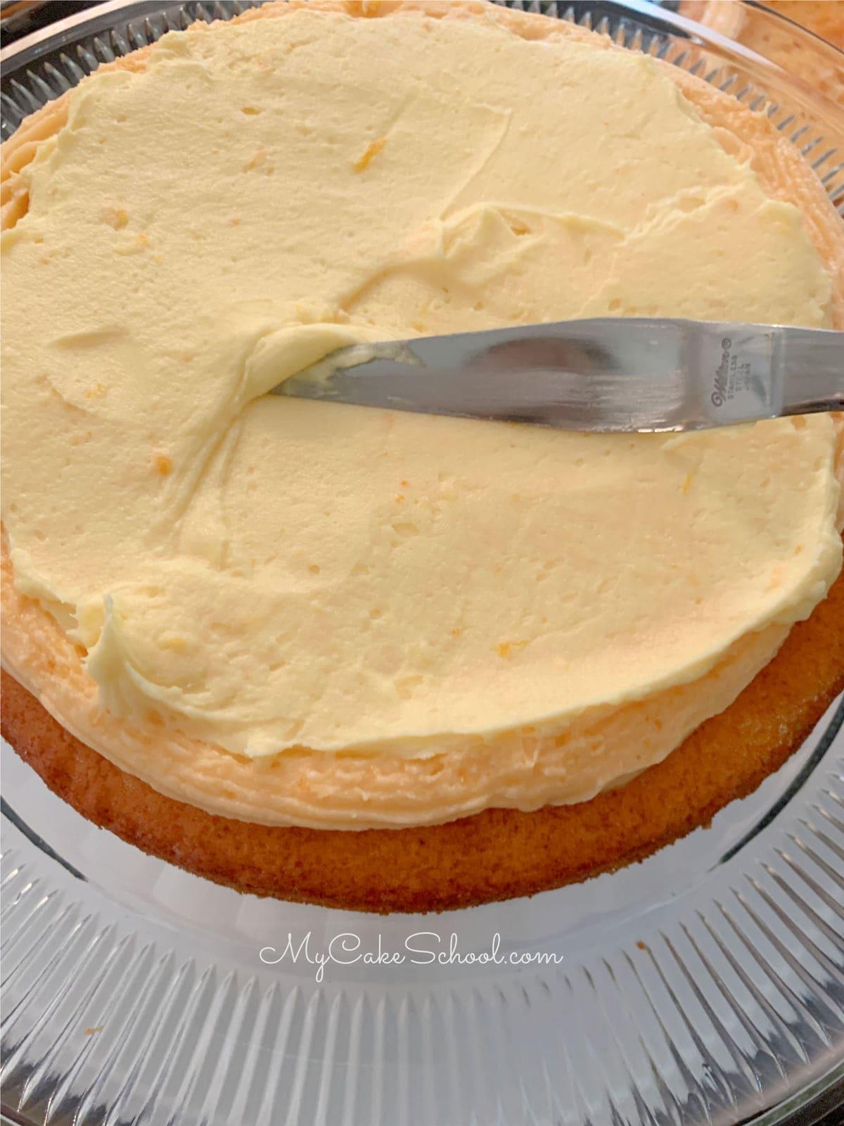 Orange Dreamsicle Cake- A Doctored Cake Mix