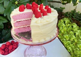 Moist and delicious Raspberry Layer Cake