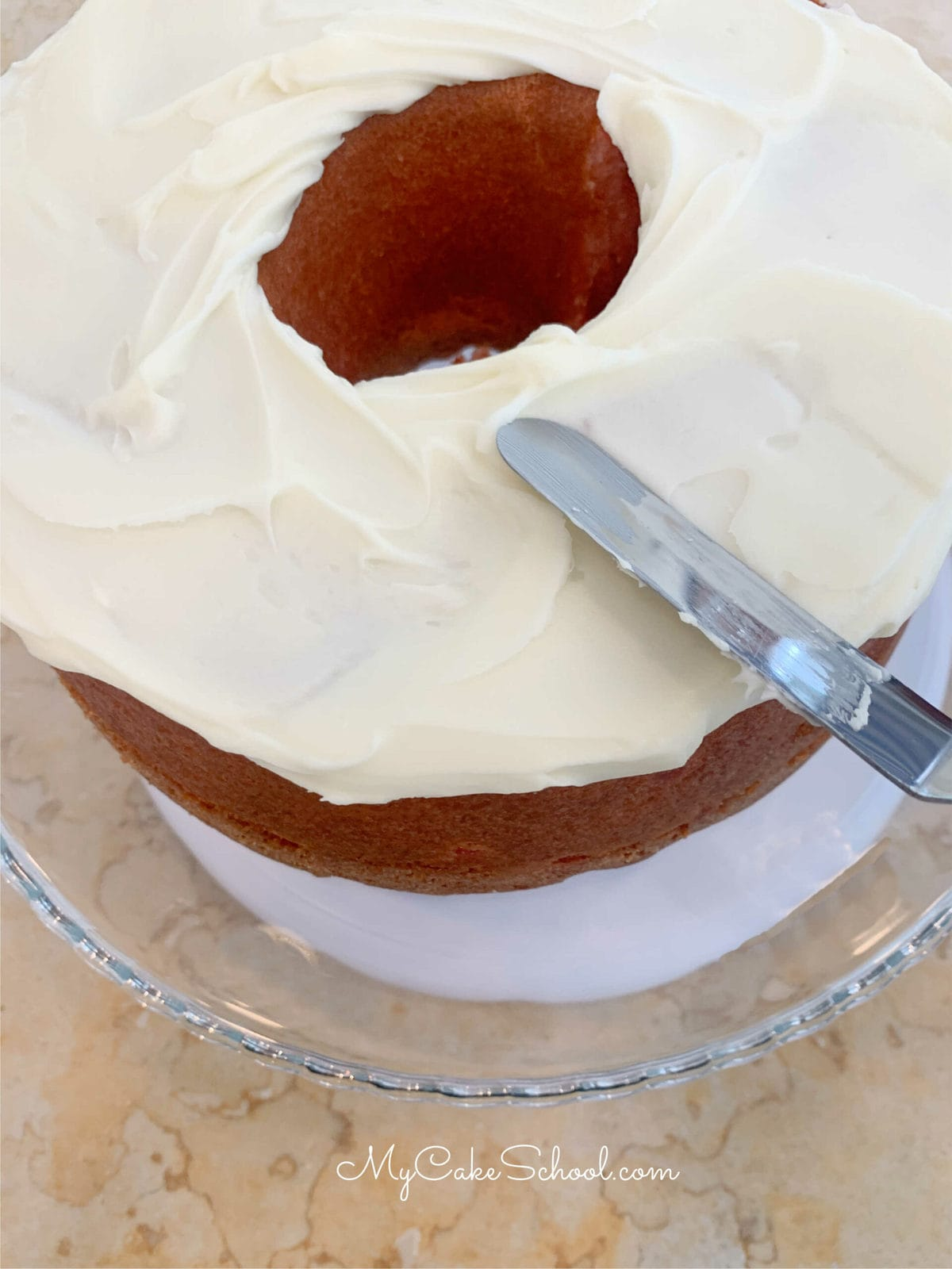 Cherry Pound Cake with Coconut Cream Cheese Frosting
