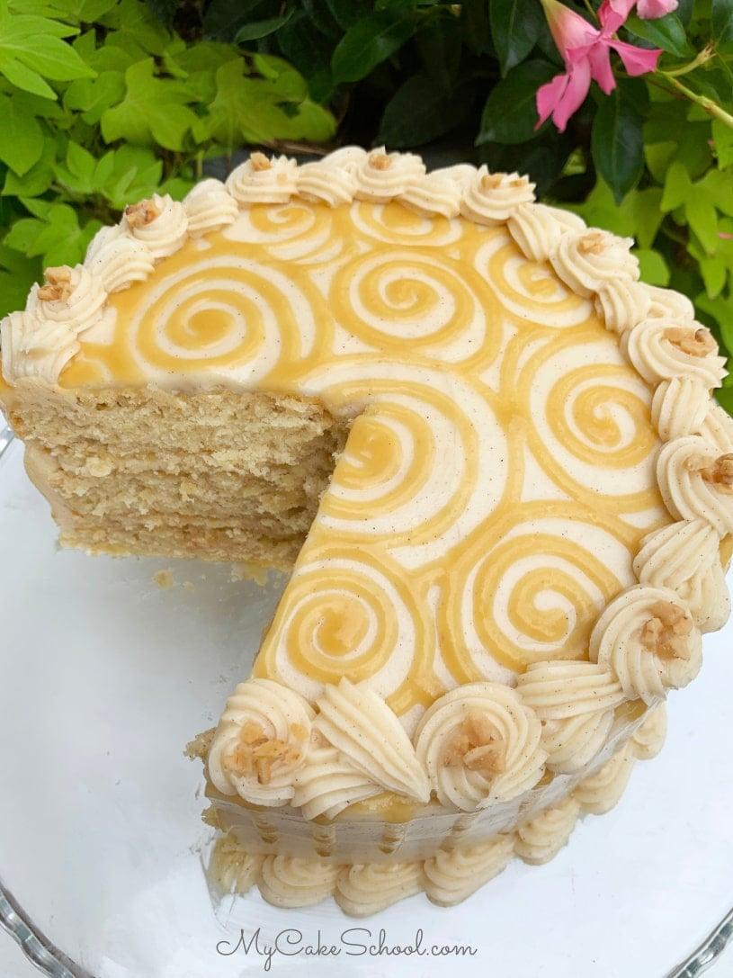 Apple Toffee Caramel Cake