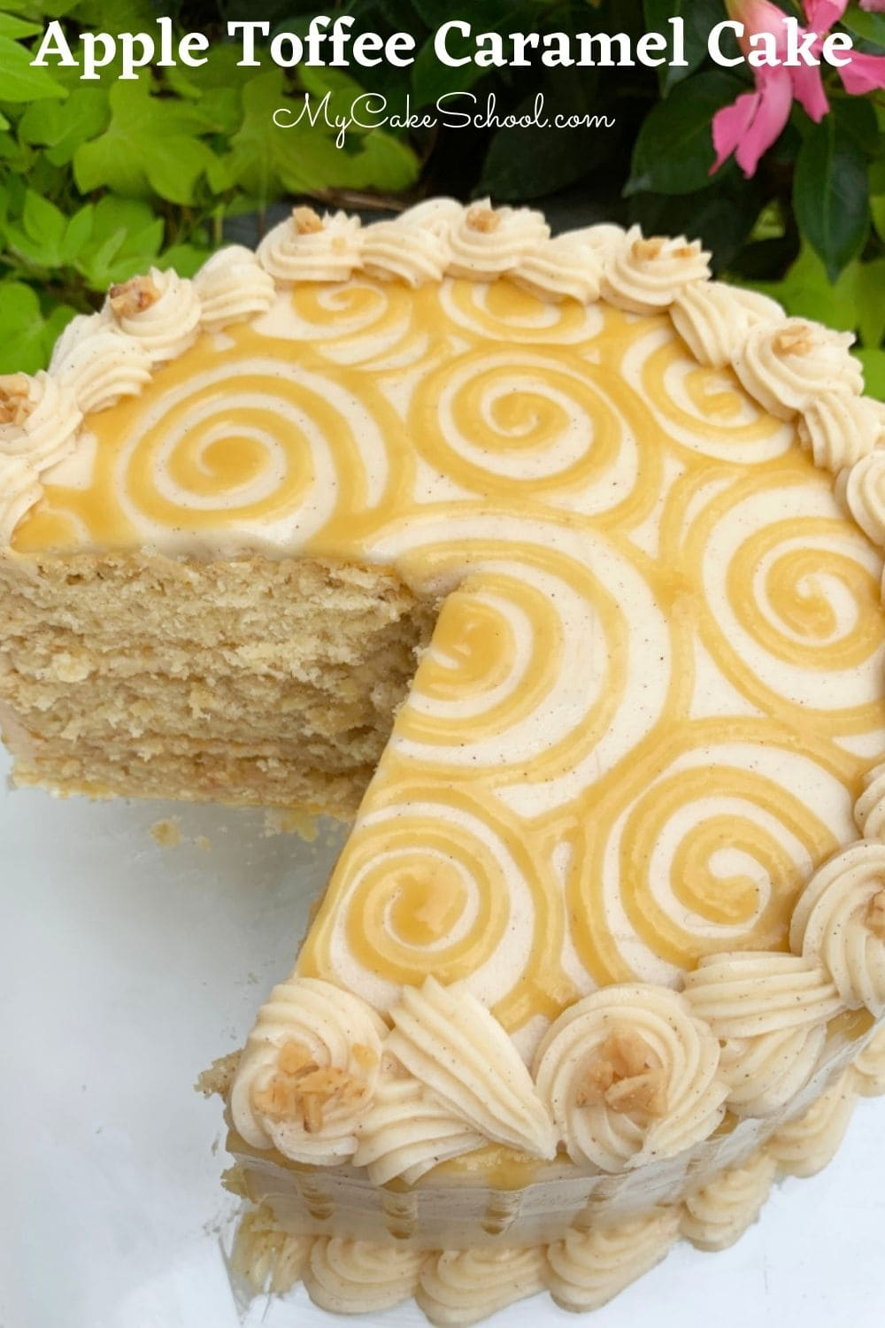 Apple Toffee Caramel Cake- So moist and delicious!