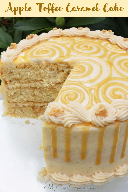 Homemade Apple Toffee Caramel Cake