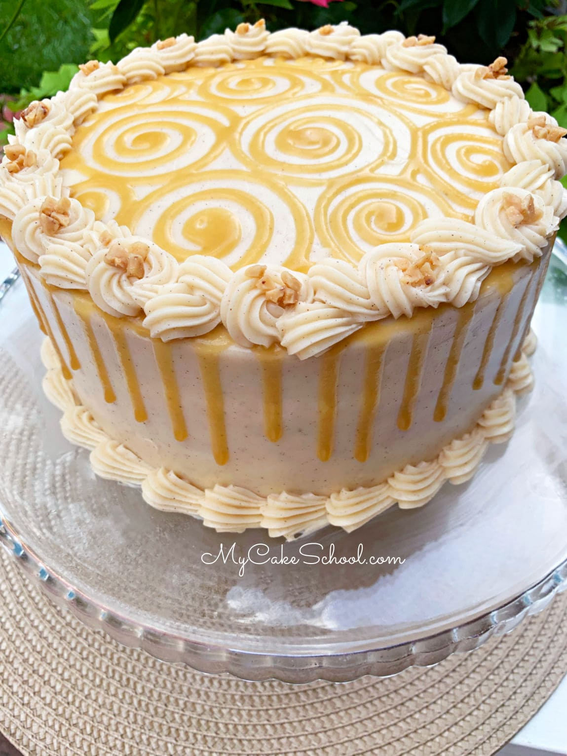 Toffee Apple Caramel Cake