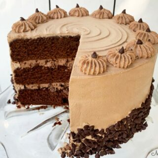Moist Chocolate Cannoli Cake
