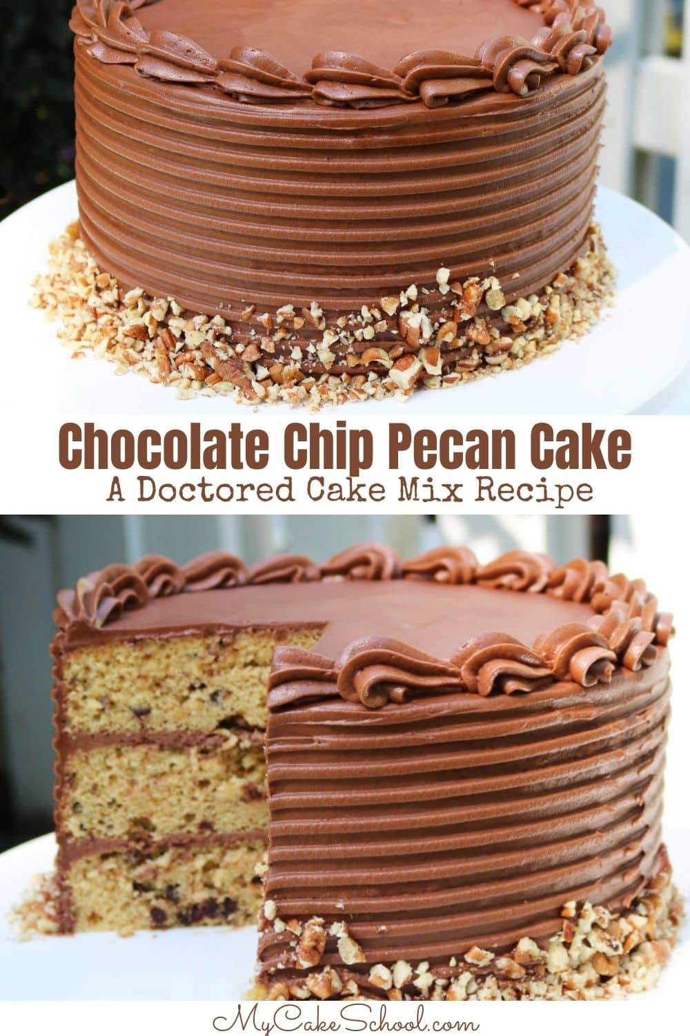 Chocolate Chip Pecan Cake- So moist and flavorful!