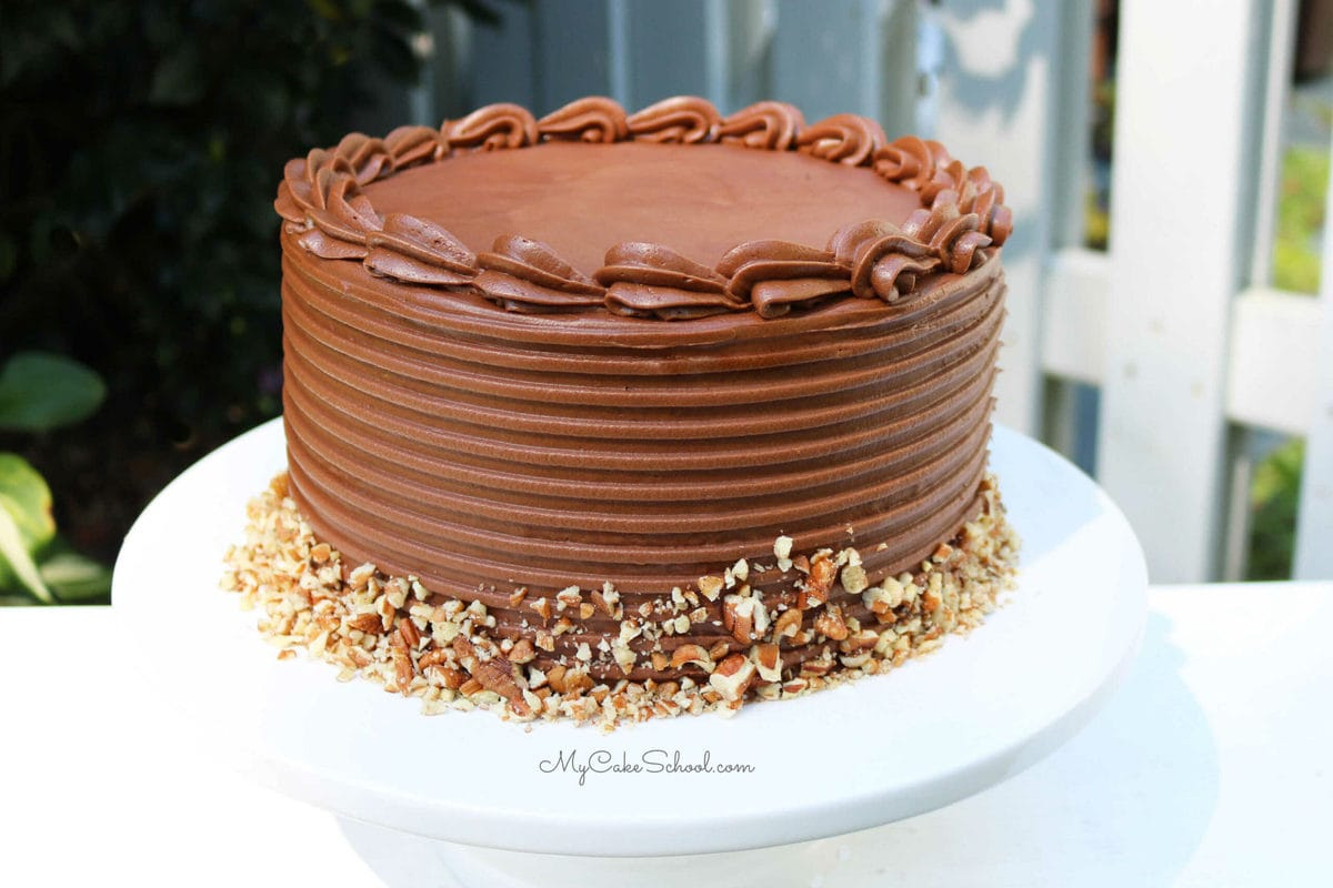 Chocolate Chip Pecan Cake- Doctored Mix Recipe