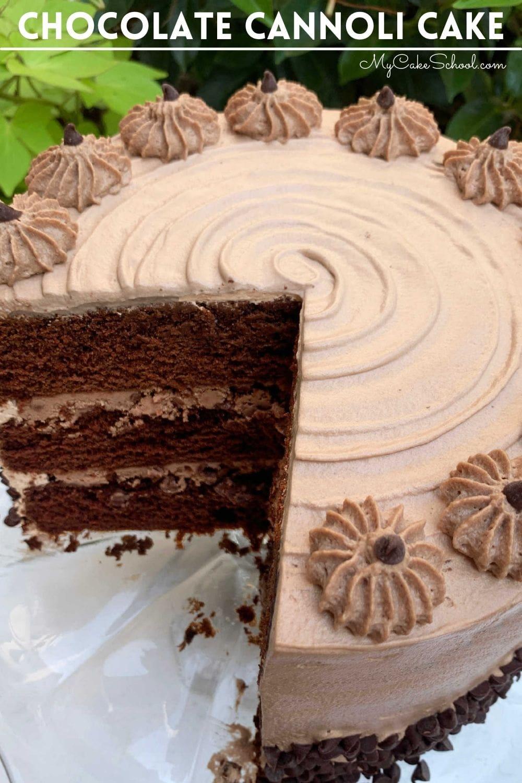 Chocolate Cannoli Cake from Scratch